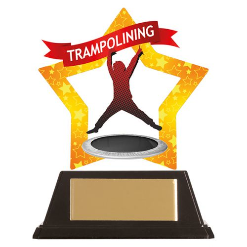 Mini-Star Trampolining Acrylic Plaque 100mm : New 2019