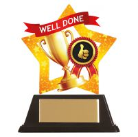 Mini-Star Well Done Acrylic Plaque 100mm : New 2019