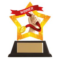 Mini-Star Winner Acrylic Plaque 100mm : New 2019