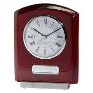 Idaho Crystal and Rosewood Clock Award 152mm