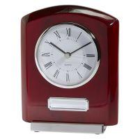 Idaho Crystal and Rosewood Clock Award 152mm