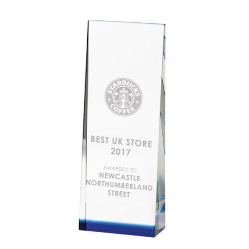 Alpha Optical Crystal Trophy Award 190mm