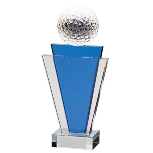 Gauntlet Tower Crystal Golf Trophy Award 200mm