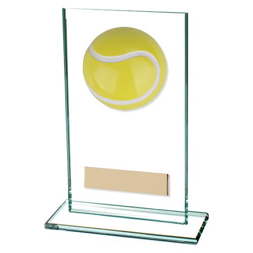 Horizon Jade Glass Tennis Trophy Award 140mm