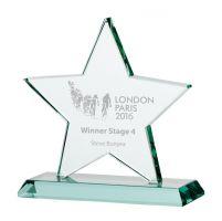 Jade Galaxy Star Crystal Trophy Award 150mm