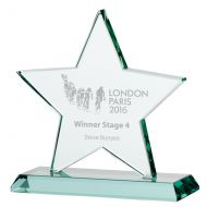 Jade Galaxy Star Crystal Trophy Award 180mm