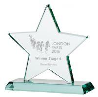 Jade Galaxy Star Crystal Trophy Award 180mm