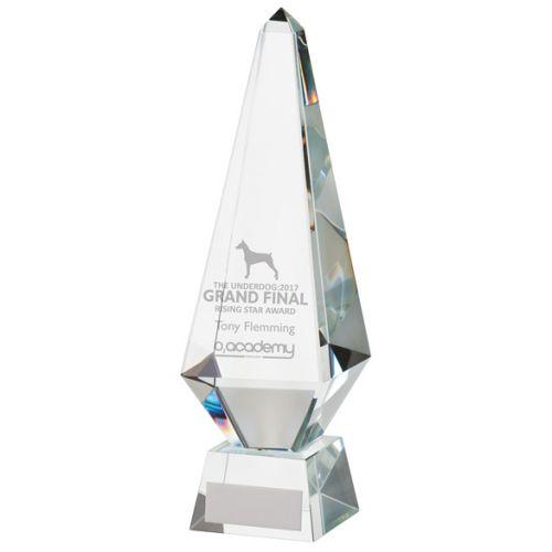 Astrea Crystal Obelisk Trophy Award 260mm