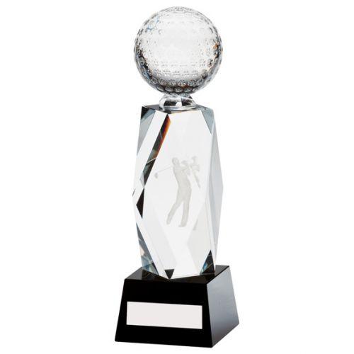 Astra Crystal Golf Trophy Award 195mm