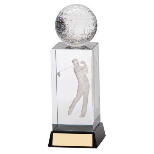 Stirling Golf Crystal Trophy Award 130mm