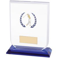 Gladiator Male Golf Glass Trophy Award 120mm