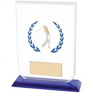 Gladiator Male Golf Glass Trophy Award 160mm