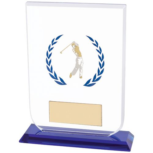 Gladiator Male Golf Glass Trophy Award 160mm