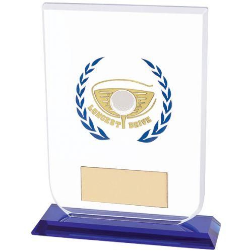 Gladiator Golf Longest Drive Trophy Award Glass 160mm