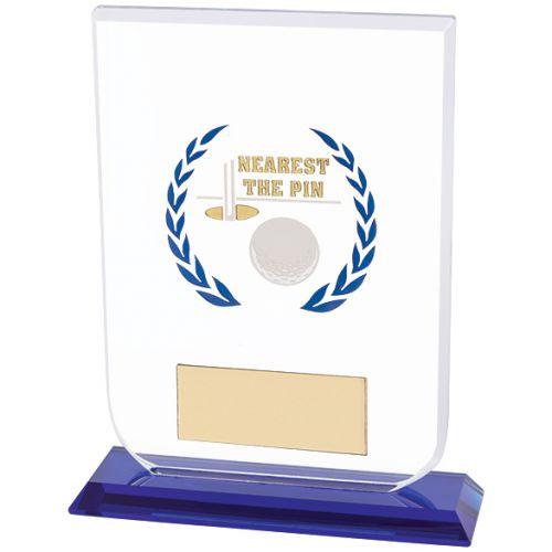Gladiator Golf Nearest Pin Trophy Award Glass 160mm