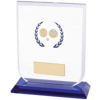 Gladiator Lawn Bowls Glass Trophy Award 120mm