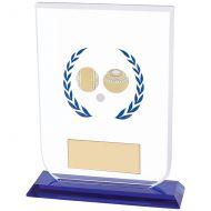 Gladiator Lawn Bowls Glass Trophy Award 160mm