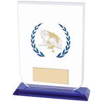 Gladiator Pool / Snooker Glass Trophy Award 160mm
