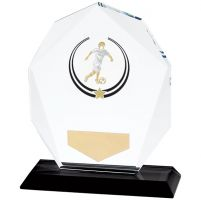 Glacier Football Trophy Award Glass 120mm