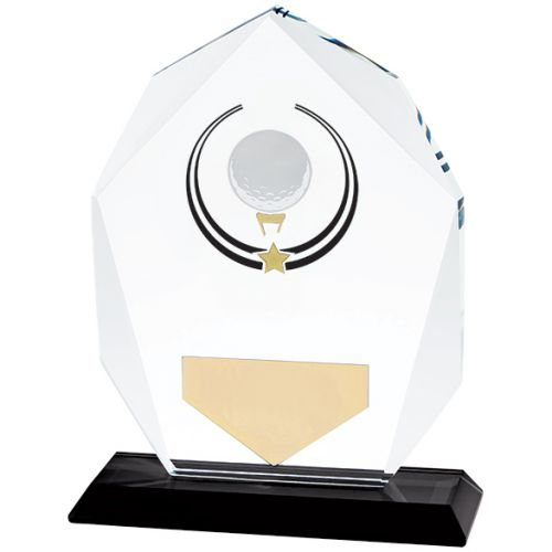 Glacier Golf Glass Trophy Award 140mm
