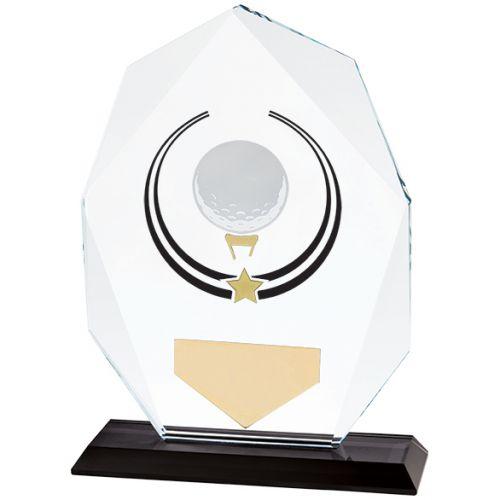 Glacier Golf Glass Trophy Award 160mm