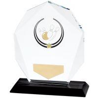 Glacier Ten Pin Glass Trophy Award 120mm