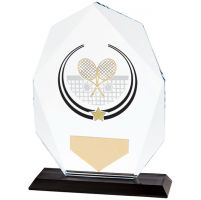 Glacier Tennis Glass Trophy Award 160mm
