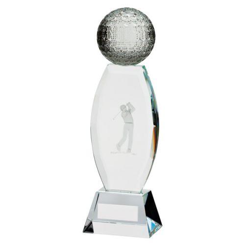Infinity Golf Crystal Trophy Award 230mm