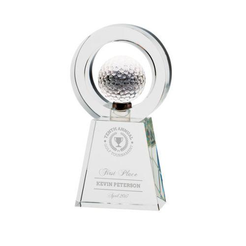 Navigator Golf Crystal Trophy Award 200mm