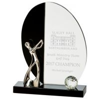 Elixir Golf Crystal Trophy Award 185mm