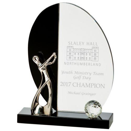 Elixir Golf Crystal Trophy Award 185mm