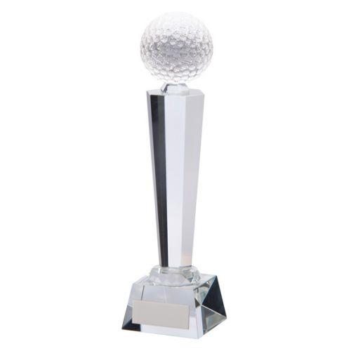 Interceptor Golf Crystal Trophy Award 255mm