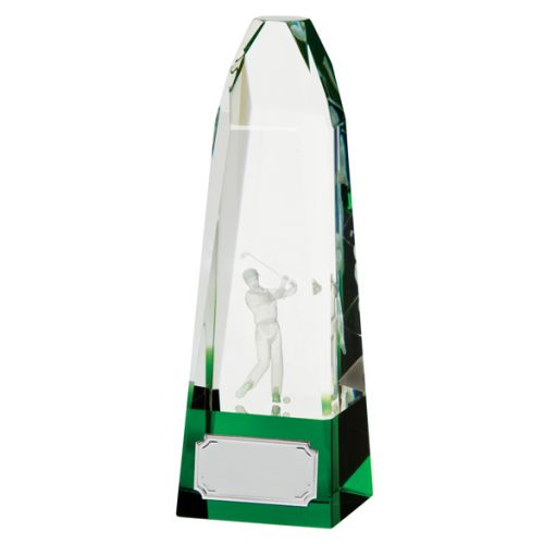 Pinnacle Golf Crystal Trophy Award 185mm