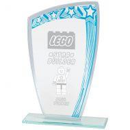 Galaxy Mirror Glass Award Blue and Silver 170mm