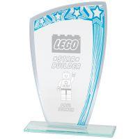 Galaxy Mirror Glass Award Blue and Silver 190mm