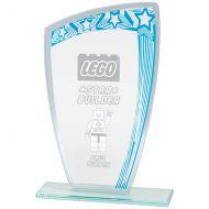 Galaxy Mirror Glass Award Blue and Silver 210mm