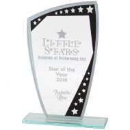 Cosmic Mirror Glass Award Black and Silver 170mm