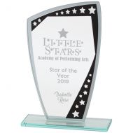 Cosmic Mirror Glass Award Black and Silver 210mm