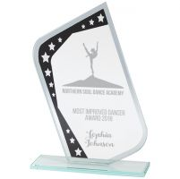 Meteor Mirror Glass Award Black and Silver 190mm