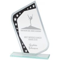 Meteor Mirror Glass Award Black and Silver 210mm