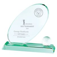 Muirfield Jade Glass Trophy Award 175mm : New 2019