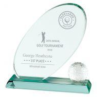 Muirfield Jade Glass Trophy Award 195mm : New 2019