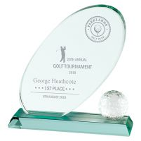 Muirfield Jade Glass Trophy Award 195mm : New 2019