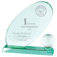 Muirfield Jade Glass Trophy Award 215mm : New 2019