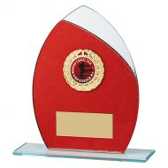 Draco Glitter Glass Trophy Award Red 165mm : New 2019