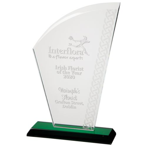 Avenger Celtic Crystal Trophy Award 230mm : New 2020