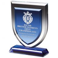Delta Blue Crystal Trophy Award 170mm : New 2020
