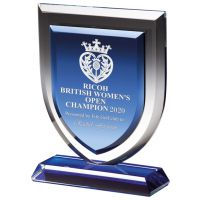 Delta Blue Crystal Trophy Award 170mm : New 2020