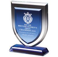 Delta Blue Crystal Trophy Award 195mm : New 2020