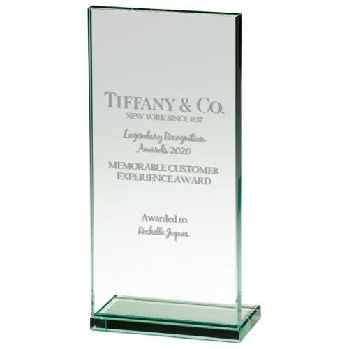 Austin Jade Glass Trophy Award 215mm : New 2020
